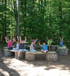 """Completed Outdoor Classroom at New Durham Elementary School, New Hampshire. """"Raise your hand if you love learning in the outdoor classroom! Outdoor Education, Outdoor Learning Spaces, Outdoor Play Areas, Outdoor Art, Forest Classroom, Outdoor Classroom, Outdoor School, School Classroom, Classroom Ideas"""