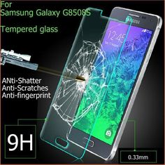 2015 High quality 2.5D Tempered Glass Screen Protector For Samsung Galaxy Alfa Alpha G850F G8508 Premium protective film
