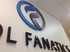 Custom office signage Foam lettering with acrylic face.