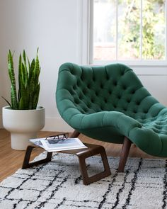 Modernica Brasilia Chaise | Made in Los Angeles, California | Available in 28 fabric choices at Modernica.net