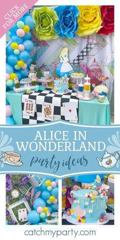 Don't miss this wonderful Alice in Wonderland Unbirthday party! The cake is delightful! See more party ideas and share yours at CatchMyParty.com #catchmyparty #partyideas #aliceinwonderland #teaparty #unbirthday #girlbirthdayparty Girls Birthday Party Themes, Tea Party Birthday, Girl Birthday, Party Drinks, Party Favors, Garden Cakes, Alice In Wonderland Birthday, Laurel Burch, Party Activities
