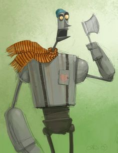 Wizard Of Oz 'Wild Tin Woodman' Character Design by Chris Oatley