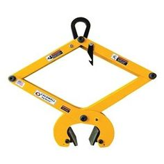 """Concrte Grab, 1100Lb, Load W1-3/16to5-1/2"""" by Caldwell. $552.60. Concrete Grab, with Polyurethane Pads, Capacity 1100 Lbs., Load Width 1 3/16 In to 5 1/2 In, Material Above the Bail Opening 3/4 In, Bail Opening Width 2 In, Bail Opening Height 3-3/8 In, Overall Width 21.8 In to 28.8 In, Headroom 13.5 In to 29.5 In, Weight 43 Lbs., Complies with ASME Standards Concrete TongsAdjust to lift various shapes of cured, precast concrete products. Urethane pads protect load, exce..."""