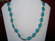Turquoise and Silver Necklace by BJDevine on Etsy