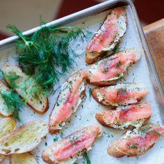 Smoked Salmon Toasts with Mustard Butter | Food & Wine