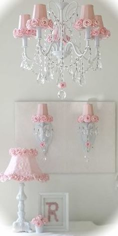 I love this grouping for My Granddaughters room.... Beautiful!