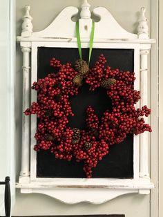 diy Dollar Tree embroidery hoop berry wreath - Re-Fabbed Dollar Tree Christmas, Cheap Christmas, Christmas Tree Ornaments, Christmas Decorations, Christmas Ideas, Christmas Porch, Homemade Christmas, Dollar Tree Decor, Berry Wreath