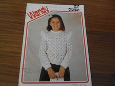 Vintage 1980's Wendy knitting pattern , girls lacy sweater in Crafts, Crocheting & Knitting, Patterns | eBay
