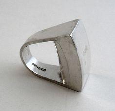 sterling ring by Pekka Piekainen (1974)