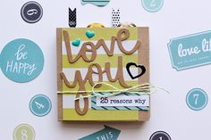 Fathers Day Mini Album by Aly Dosdall for @wermemorykeeper  #papercrafts #scrapbook