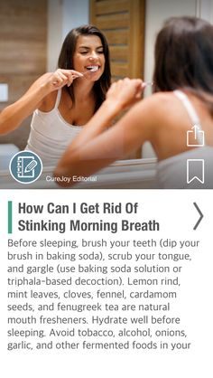 How Can I Get Rid Of Stinking Morning Breath Naturally? - via @CureJoy