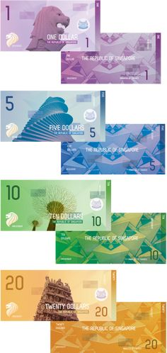 Singapore Currency by Lizzy Watkins, via Behance