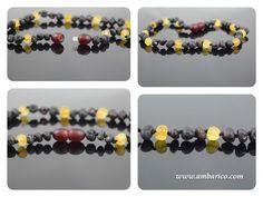 Collar de ambar baltico para ninos as Baltic amber necklace for children 30 cm