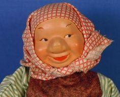 RARE Norwegian Norway Ronnaug Petterssen Nissegutt Cloth Felt Doll ... Felt Dolls, Norway, Crochet Hats, Clothes, Knitting Hats, Outfits, Clothing, Clothing Apparel, Kleding