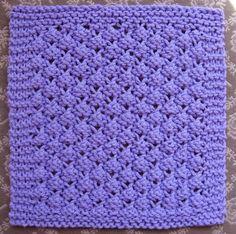 Free Knitting Pattern - Dishcloths & Washcloths : Blackberries