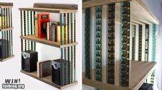 Filmstrip bookshelf