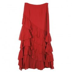 Skirt- Diagonal Ruffle Skirt