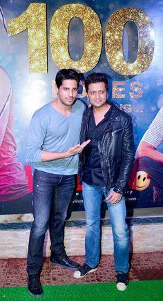 Sidharth Malhotra and Riteish Deshmukh at the success bash of 'Ek Villain' #Style #Bollywood #Fashion #Handsome