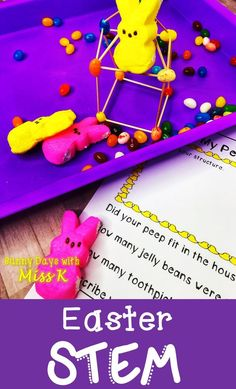 These Easter STEM activities are perfect for your Peep Science Unit! Use these Easter science activities during the month of April! Stem Science, Science Experiments Kids, Science Activities, Elementary Education Activities, Egg Drop, Coding For Kids, Stem Projects, Easter Activities, Easter Celebration