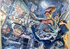건물배경 twitter@cresendoo Japanese Illustration, Art And Illustration, Drawing Scenery, Asian Artwork, Urban Sketchers, Dope Art, Global Art, Cool Drawings, Comic Art