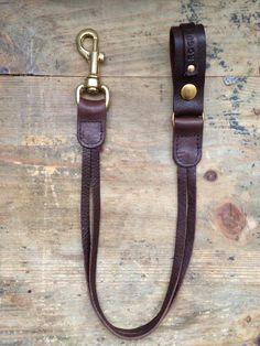 Dark brown real leather Biker / Trucker Lanyard by Roguesaddler