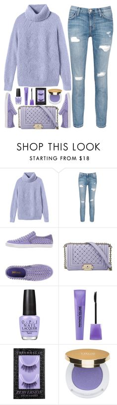 """""""street style"""" by ecem1 ❤ liked on Polyvore featuring Rebecca Taylor, Current/Elliott, Just Cavalli, OPI, Bourjois, Urban Decay, Isaac Mizrahi, women's clothing, women's fashion and women"""