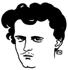Portrait du poète français le Comte de Lautréamont, 1896 de Felix Vallotton (1865-1925, Switzerland)