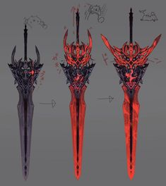 Ninja Weapons, Anime Weapons, Sci Fi Weapons, Weapon Concept Art, Fantasy Sword, Fantasy Armor, Fantasy Weapons, Fantasy Character Design, Character Art