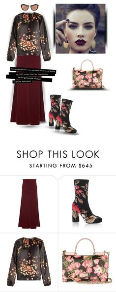 """Flower power- pattern mix"" by zabead ❤ liked on Polyvore featuring Marni, MSGM, Rochas and Dolce&Gabbana"