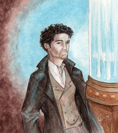 """Experimenting a bit with drawing the Eighth Doctor's new costume from the """"Dark Eyes"""" promotional material. I'm a bit conflicted - I mean, I like the ne. The Doctor's New Clothes Eighth Doctor, Armistice Day, Doctor Who Fan Art, Bucky And Steve, Shield Maiden, Oboe, Dark Eyes, Obi Wan, Winter Soldier"""