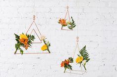 geometric floral planter DIY