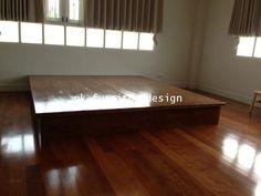เตียงไม้ญีปุ่นสีย้อม - คลิกที่นี่เพื่อดูรูปภาพใหญ่