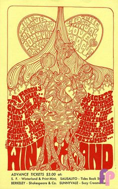 Grateful Dead at Winterland 3/3/67 by Herrick. DDuring the mid 60s, many unusual events were staged at various venues in San Francisco. Some were large events that were well run, and some were so obscure that they have faded into music history. The First Annual Love Circus was one such event. Held at Winterland with an all-star lineup that played from 7:00 PM to 7:00 AM, the Love Circus also offered such entertainment as body and face painting. This was the 1st concert I went to.