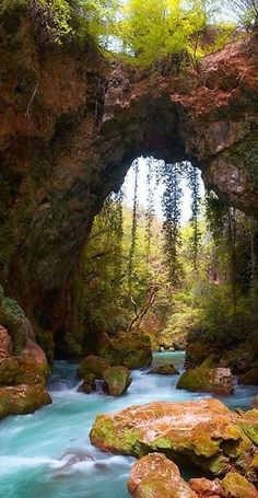 Theogefiro (God's bridge) in Zitsa, Greece