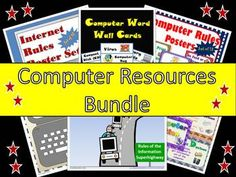This is a bundle of some  of my computer resources.  There are 7 resources included.  This has been bundled together for a 20% savings.