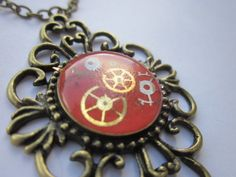 Necklace Clockwork Orange and bronze  £7.99