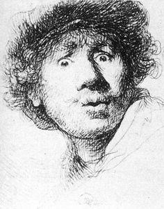 Self-portrait. Rembrandt van Rijn, 1630.