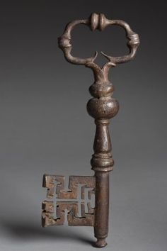 A Key of Note - The original key used at Stirling Castle in Scotland. The Castle dates from at least early 12th century; present buildings mostly built between 1490 and 1600.