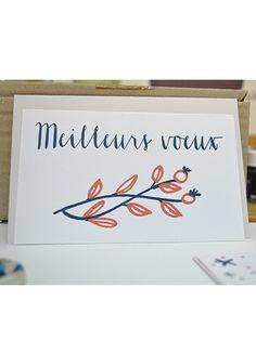 Carte de vœux Letterpress : Meilleurs Vœux