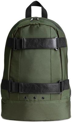H M - Backpack - Khaki green - Men Cool Backpacks c5532fe42265d