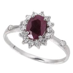 1.0ct Genuine Natural Ruby Gemstone and Diamond « Holiday Adds
