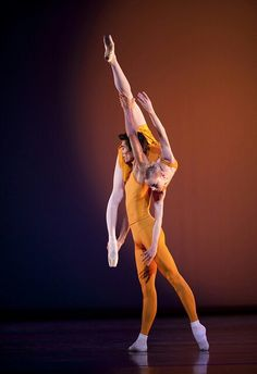 "Sarah Lamb and Ryoichi Hirano in ""Concerto"" /photo by Johan Persson /Royal Opera House 2010"