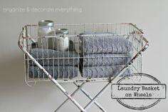 Laundry Basket on Wheels - Organize and Decorate Everything
