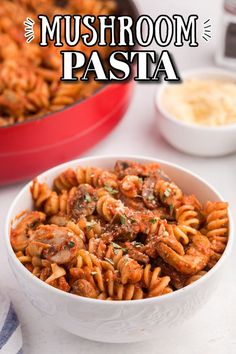 Mushroom Pasta - Perfect for those busy weeknights when you need to get dinner on the table quickly! This easy family dinner is a great choice for meatless Mondays and ready to eat in under 30 minutes. Serve this delicious and savory mushroom tomato sauce on a bed of your favorite pasta noodles and a side of garlic bread for a complete meal. #ad Mushroom And Onions, Mushroom Pasta, Mushroom Recipes, Quick Recipes, Pasta Recipes, Stuffed Mushrooms, Stuffed Peppers, Easy Family Dinners, Pasta Noodles