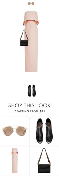 """Untitled #2409"" by mitchelcrandell ❤ liked on Polyvore featuring Christian Dior, H&M, Monique Lhuillier and Marni"