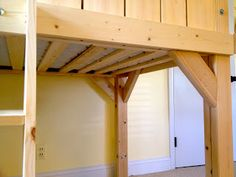 A DIY tutorial to build a kids clubhouse loft bed. Make an amazing loft space for kids that fits a twin size mattress. Playhouse Loft Bed, House Bunk Bed, Loft Bed Plans, Loft Beds, Kids Clubhouse, Bed For Girls Room, Diy Bebe, Loft Spaces, Kid Beds