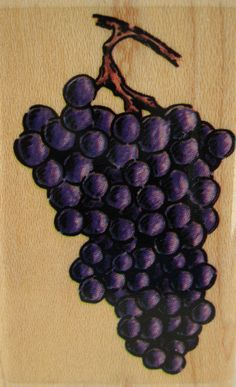 Cluster of Grapes Stampabilties ER1014 Garden Fruit Food Mounted Rubber Stamp #Stampabilities