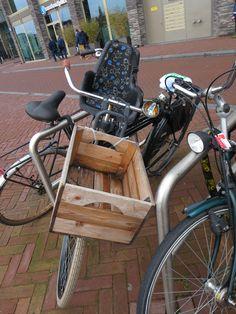 wooden crate n bike