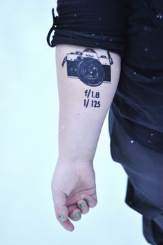 I love this idea.  I especially love putting the aperture and shutter speed.