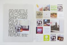 jamaica makes: go: seattle / slide protector page // mini book inspiration